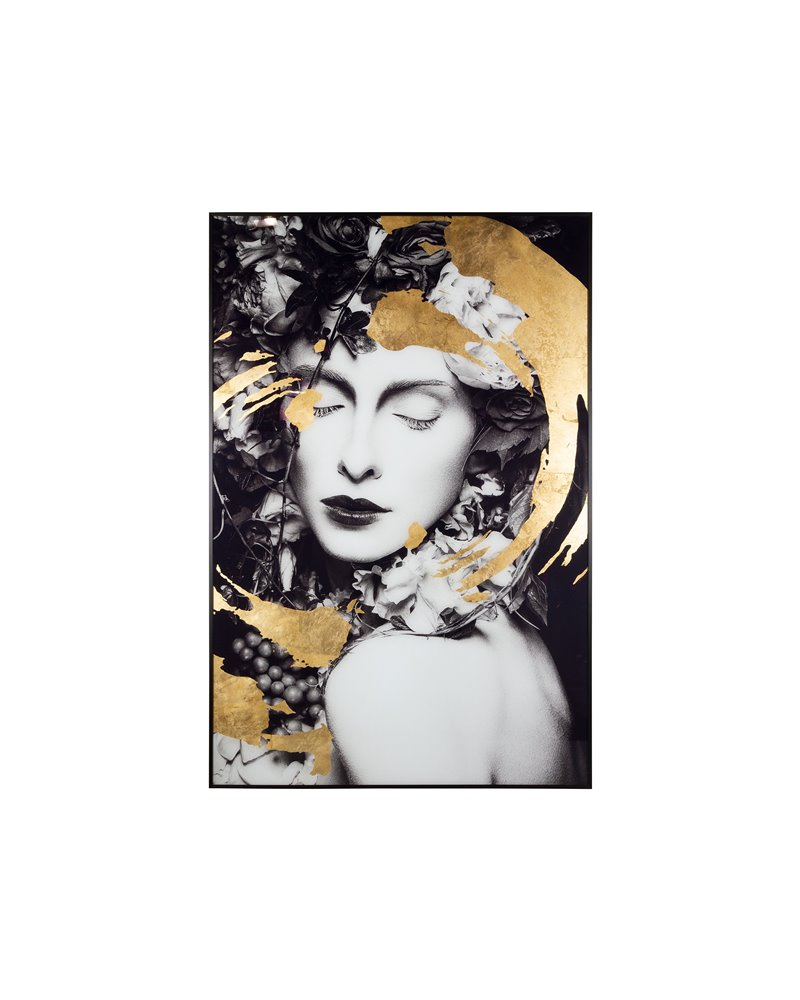 Gold woman painting