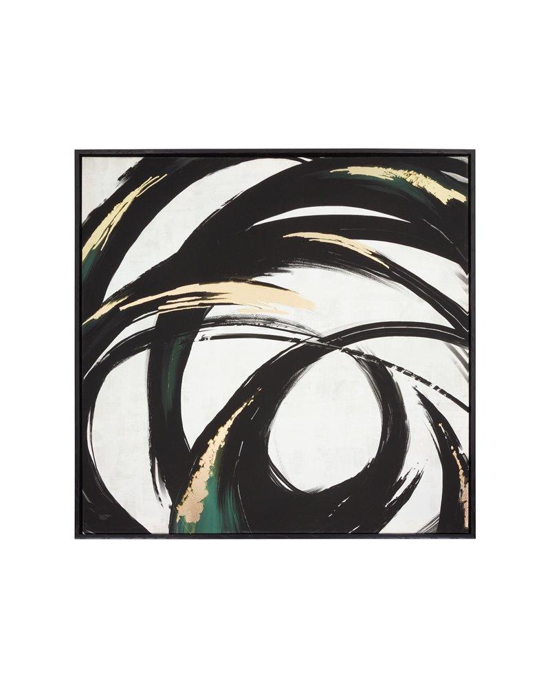 Cuadro abstracto negro