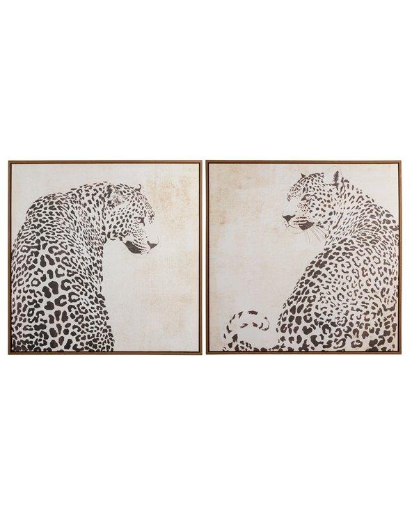 Cuadro leopardo Blanco y Negro