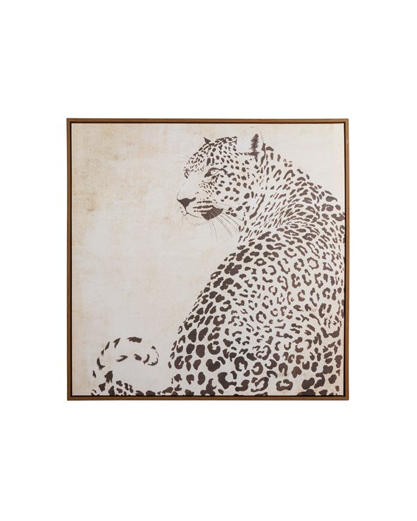 Black and White leopard painting