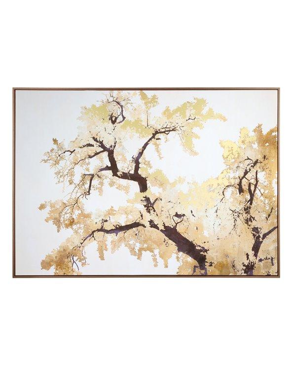 Trädgren målning