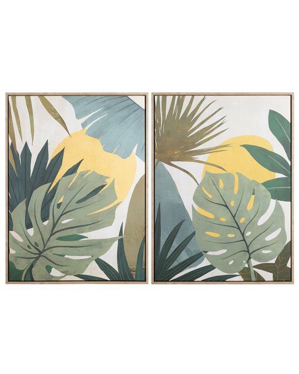 Set 2 cadros follas