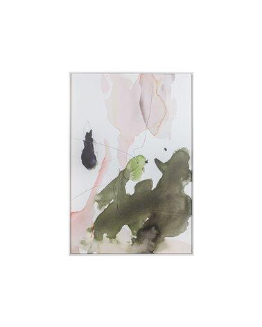 Cuadro abstracto verde
