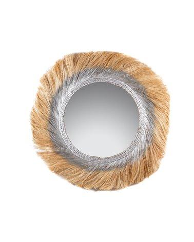 Espejo Kesawa hojas plata