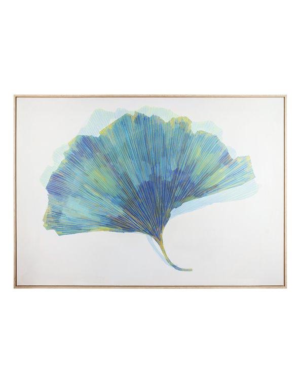 Emerald leaf painting