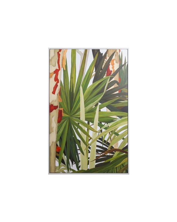 Peinture à la feuille de palmier