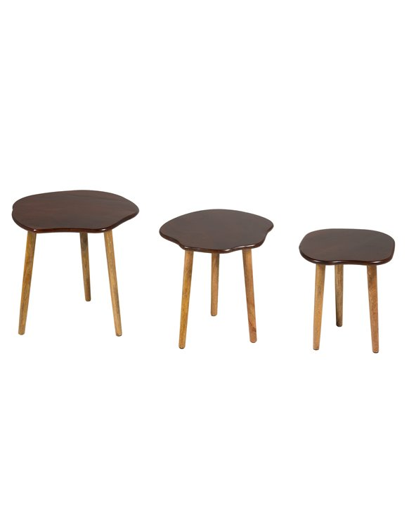 Set of 3 round tables