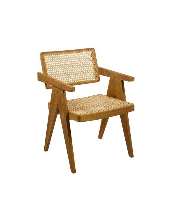 Mesh armchair Nat