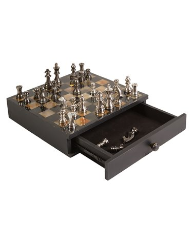 Silver chess with drawer