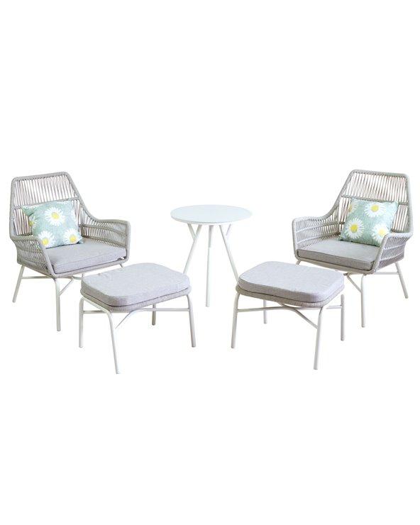 Conjunto de jardín White 5 piezas