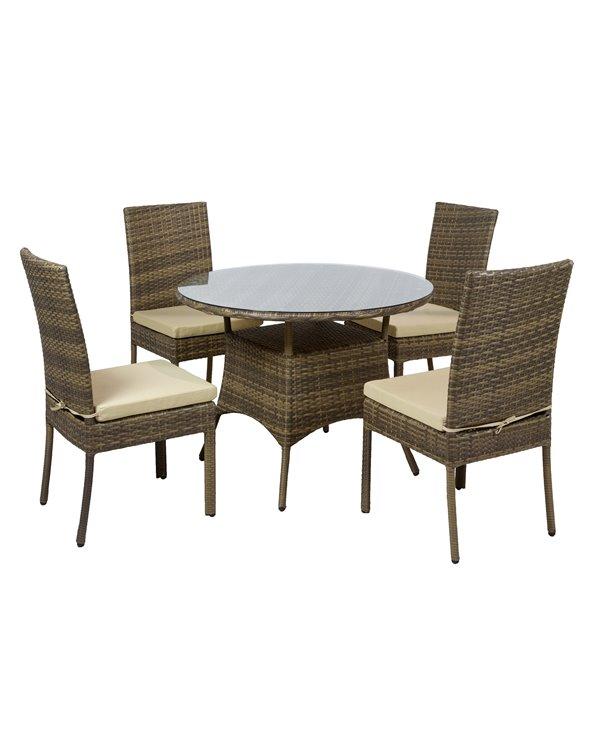 Taula redona amb 4 cadires