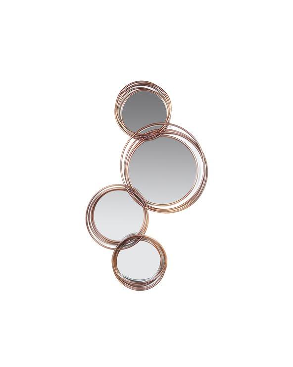 Specchio da parete 4 anelli