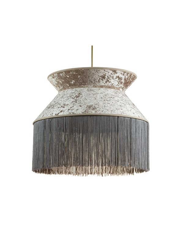 Lámpara de techo Cancán gris 45x45 cm