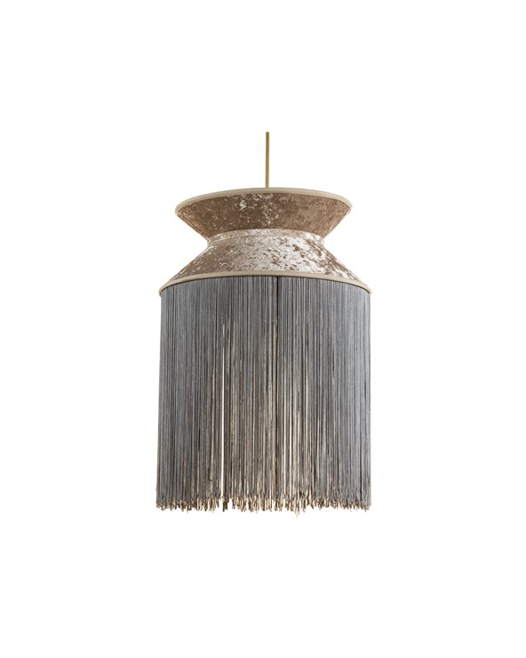 Llum de sostre Cancan gris 30x30 cm
