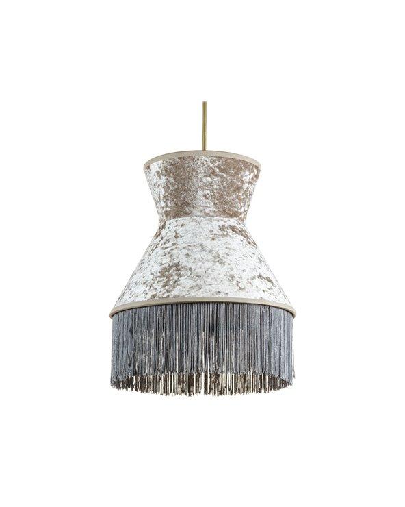 Lámpara de techo Cancán gris 25x25 cm