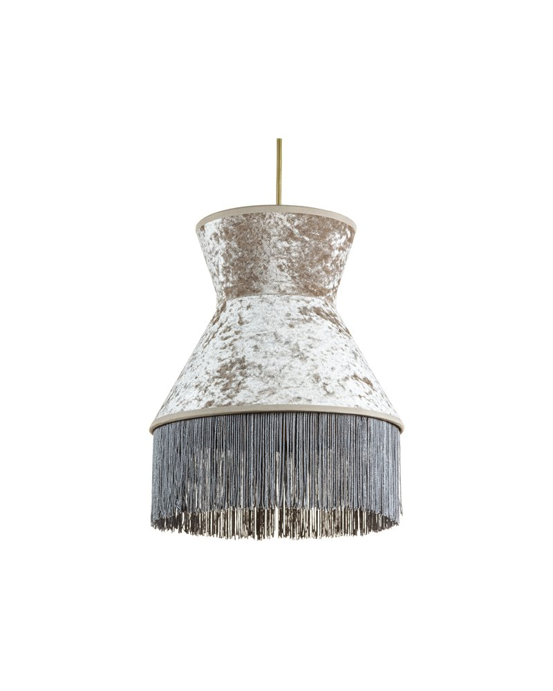 Llum de sostre Cancan gris 25x25 cm