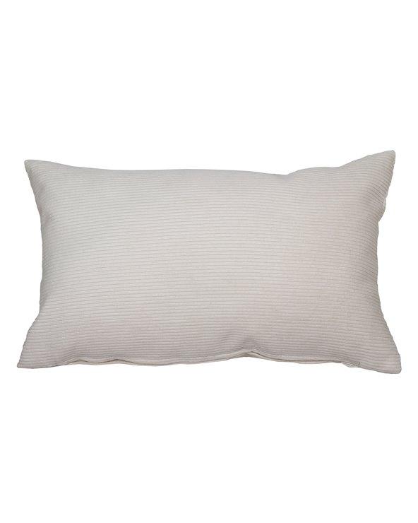 Natural corduroy cushion 30x50 cm