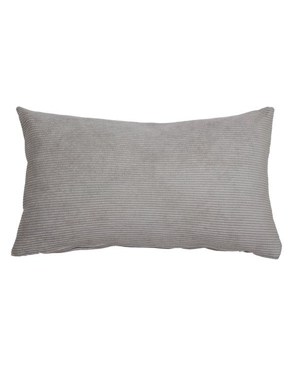 Cojín pana gris 30x50 cm
