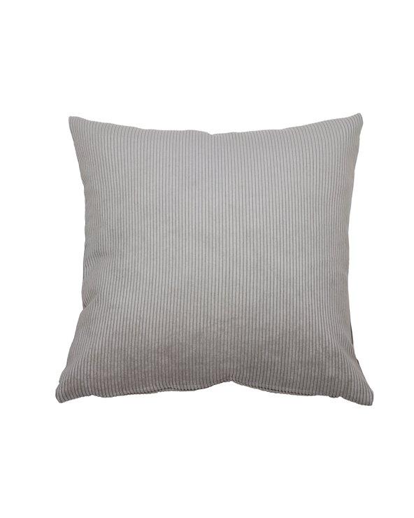 Gray corduroy cushion 45x45 cm