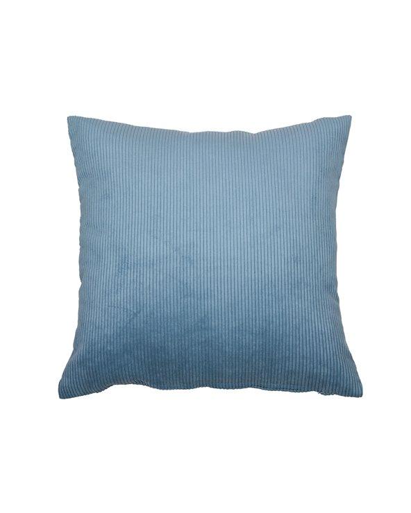 Blaues Cordkissen 45x45 cm