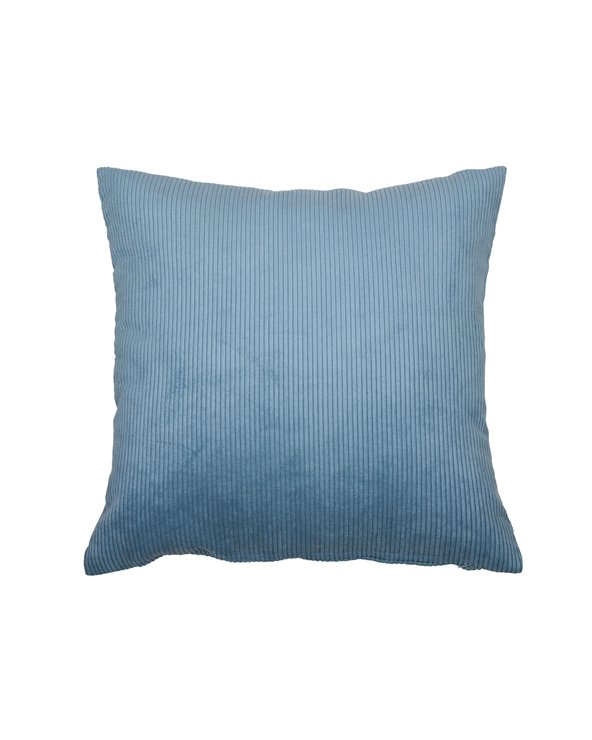 Blue corduroy cushion 45x45 cm