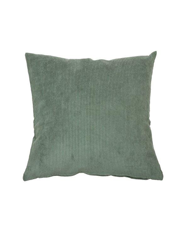 Green corduroy cushion 45x45 cm