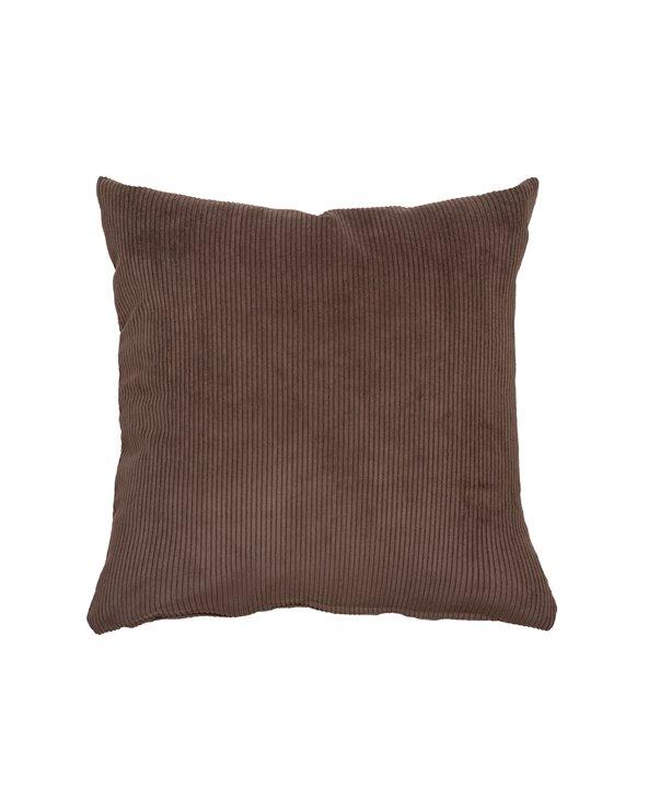 Chocolate corduroy cushion 45x45 cm