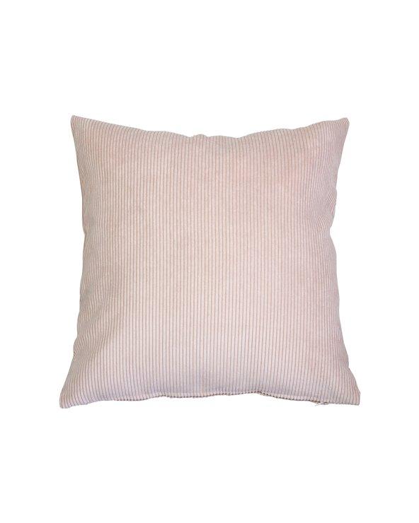 Pink corduroy cushion 45x45 cm