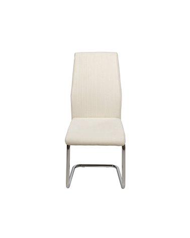 White Crome chair