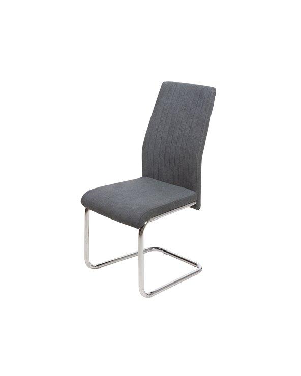 Grijze chromen stoel