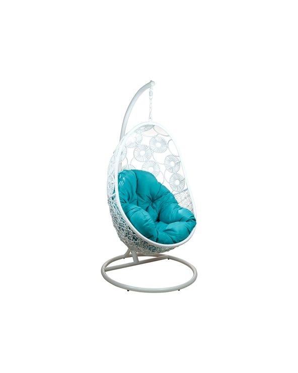White hanging basket chair