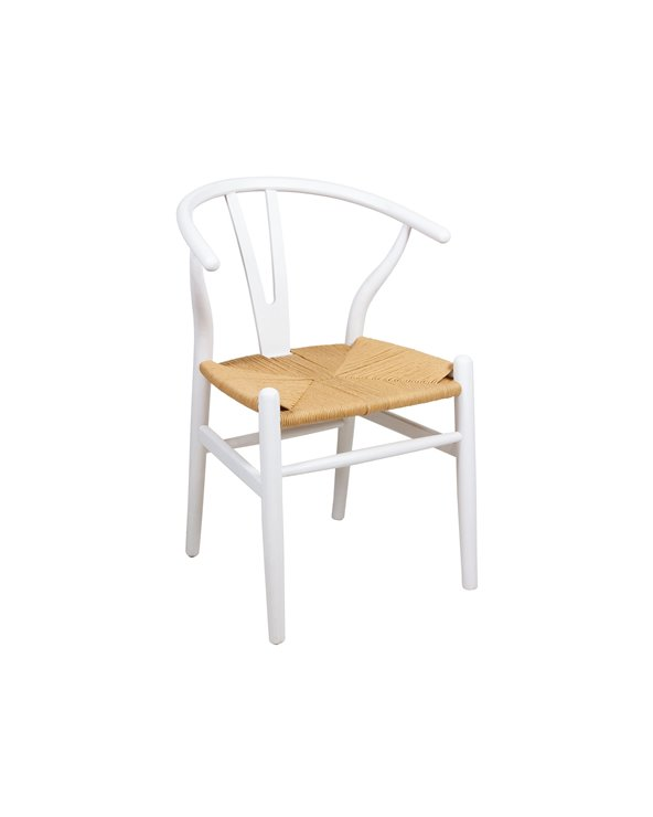 Stuhl aus Ulme weiß