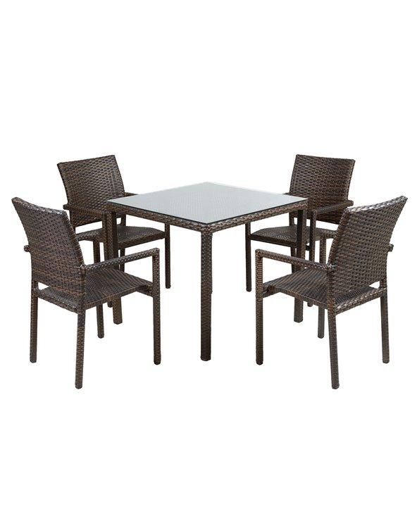 Mesa de terraza con 4 sillas