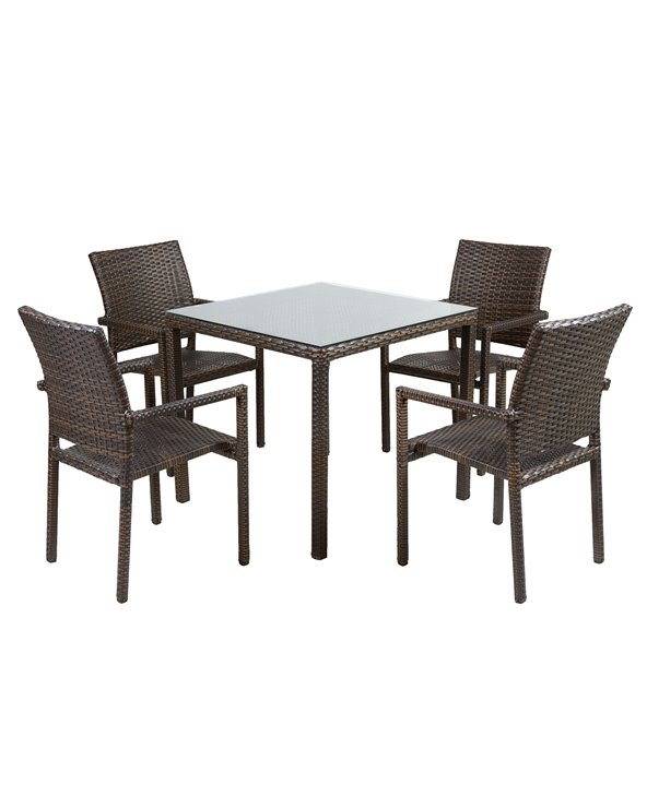 Terrace table with 4 chairs