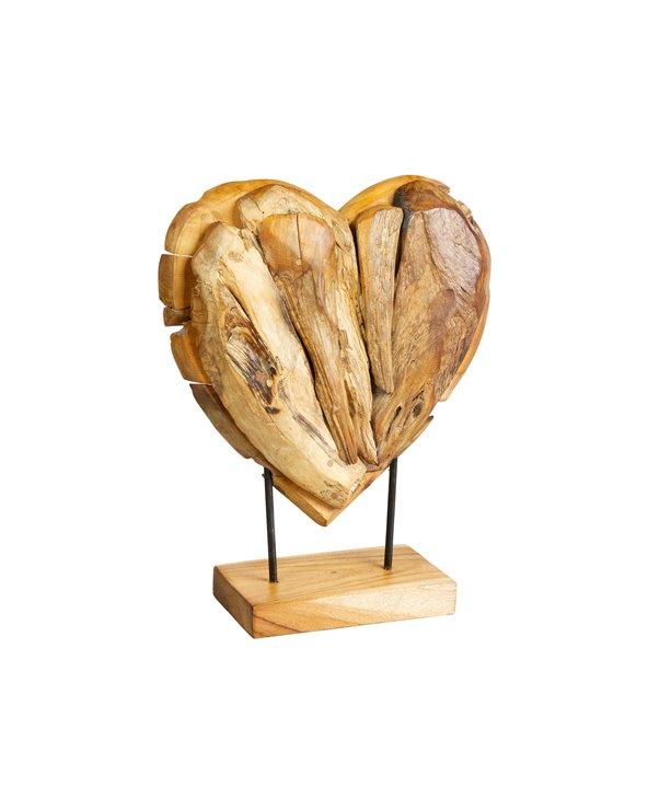Figura fusta Cor feta a mà