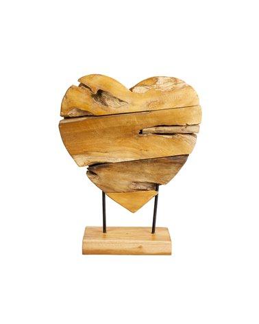 Figura madera Corazón hecha a mano