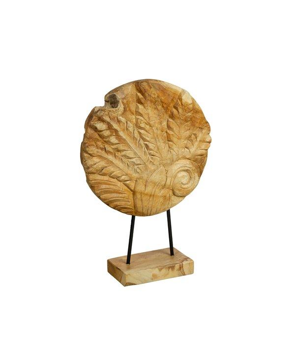 Figura fusta Fulles feta a mà