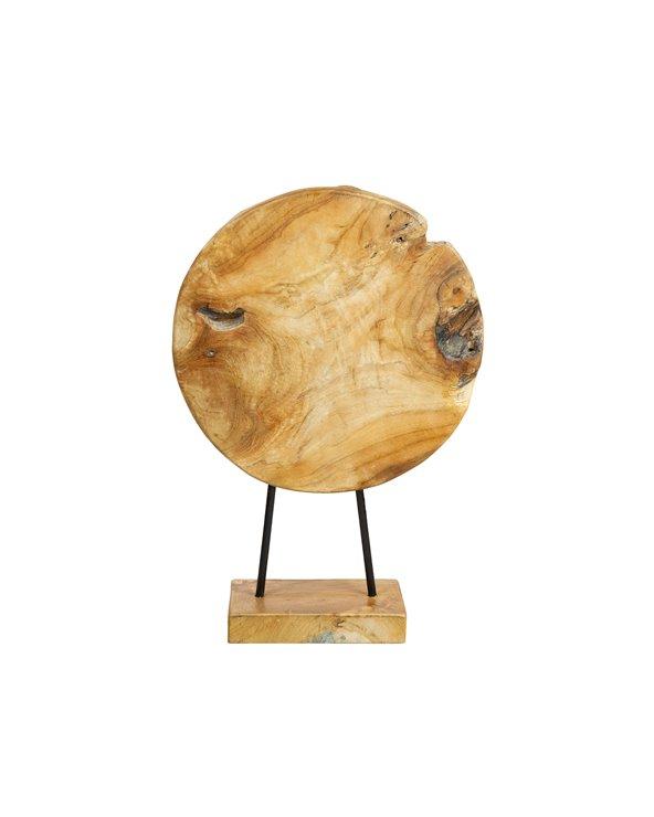 Figura madera Hojas hecha a mano