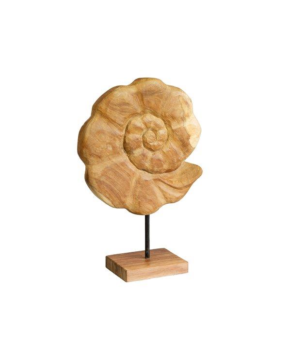 Figura madera Concha hecha a mano