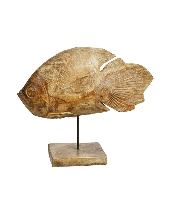 Handmade wooden figure Fish