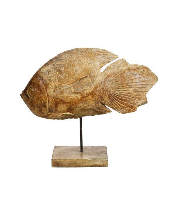 Figura madera Pez hecha a mano
