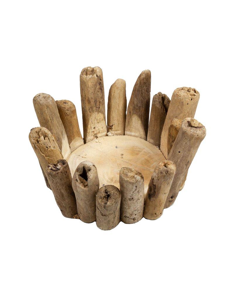 Canelobre Branques fet a mà - Fusta recuperada de la deriva
