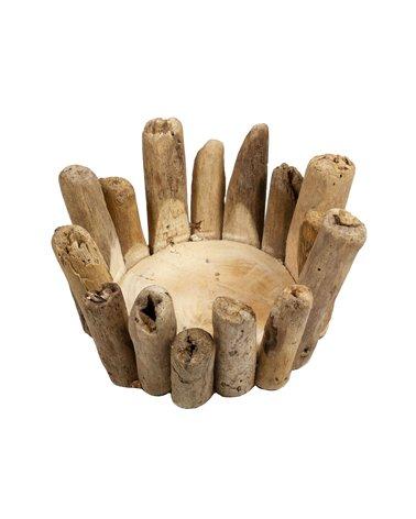 Candelabro Ramas hecho a mano - Madera recuperada de la deriva