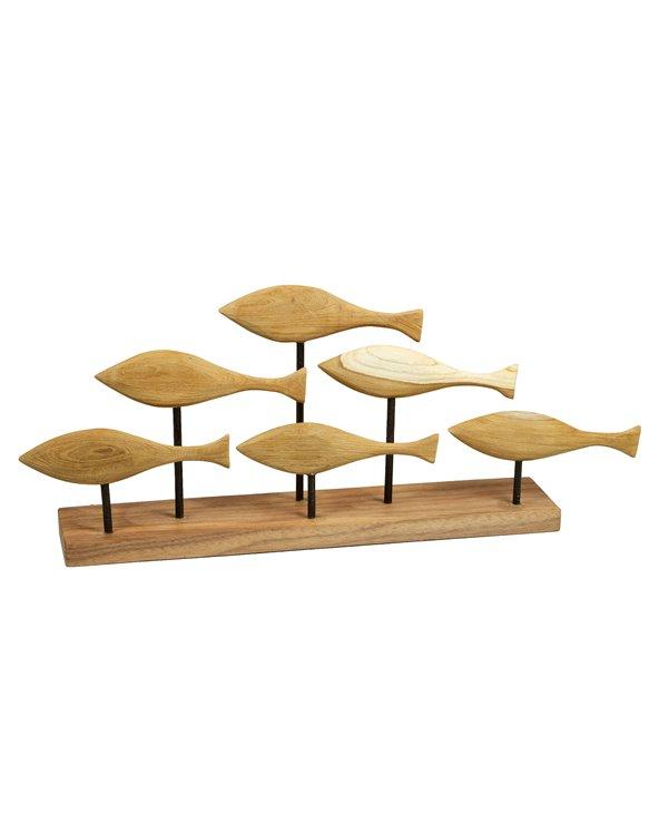 Figura de fusta Peixos feta a mà