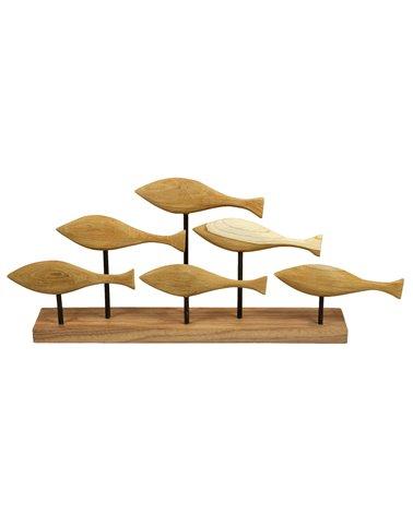 Figura de madera Peces hecha a mano