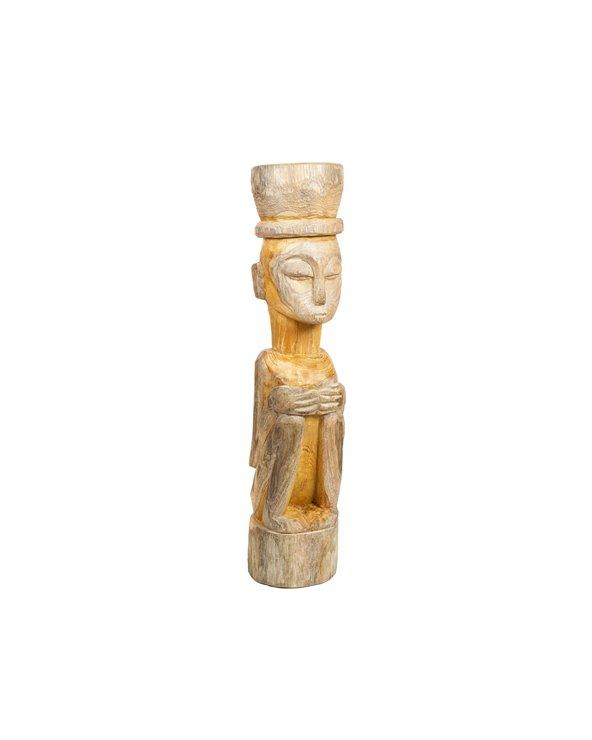 Handmade wooden figure Seated