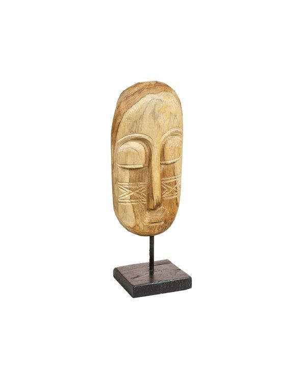 Figura madera Cabeza hecha a mano
