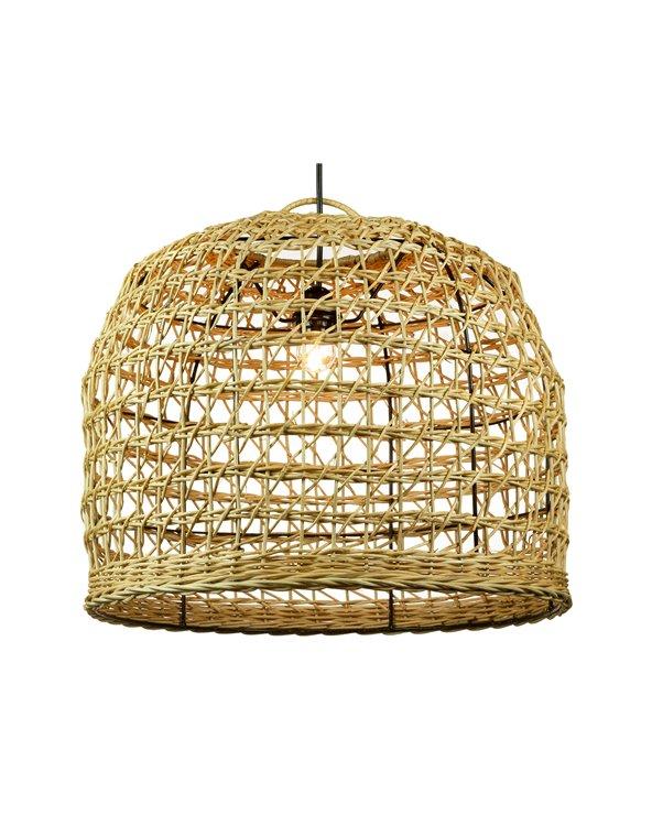 Lámpara de techo ratán hecha a mano