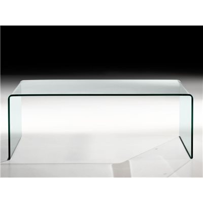 Couchtisch mit gebogenem Glas Garbis 110 cm