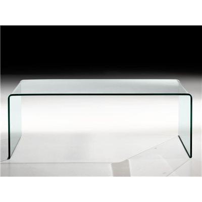 Tavolino con vetro curvo Garbis 110 cm